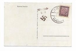 "Tchecoslovaquie CP Konrad Henlein Avec Cachet ""Tag Der Befreiung"" - Czechoslovakia"