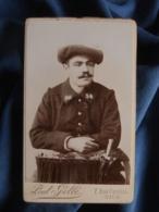 Photo CDV Paul Gellé à Nice - Militaire Chasseur Alpin Du 24 BCA, Vers 1895 L436F - Fotos