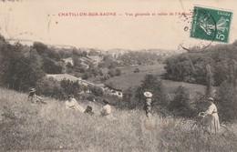 CHATILLON-SUR-SAONE : (88) Vue Générale Et Vallée De LApance - Autres Communes