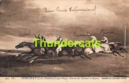 CPA GERICAULT J L THEODORE COURSES DE CHEVAUX A EPSOM MUSEE DU LOUVRE PARIS CHEVAL HORSE - Hippisme