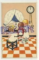 Enfant, Petits Anges, Horloge (minuit). Cadeau, Houx. Coloprint Spécial 1421 - Christmas