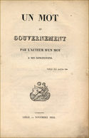Pamphlet Anti-orangiste - 1801-1900