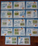 #CAJ-4#  14 CINDERELLA SHEETS OF MUNDIAL 82 SPAIN. MNH**. SOCCER, FOOTBALL. THE 14 TOWNS. - Coppa Del Mondo