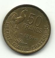 1951 - Francia 50 Francs - M. 50 Franchi