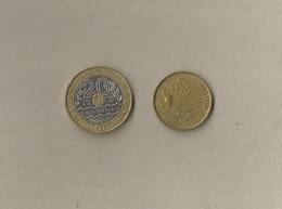 2 Verschillende Munten Van 20 Francs - Frankrijk / France - France