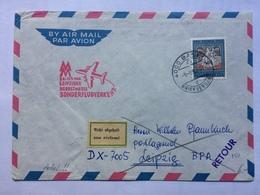 SWITZERLAND 1966 Air Mail Cover Basil To Leipzig Returned With Retour Cachet, Leipziger Sonderflugverkehr Cachet - Covers & Documents