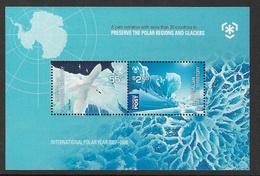 Australian Antarctic Territory SGMS192 2009 Poles & Glaciers Souvenir Sheet Unmounted Mint [4/4009/6D] - Unused Stamps