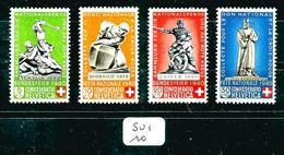 SUI YT 349/353 Sauf 352  SBK B3/B6 Sauf B5 En X - Unused Stamps