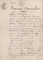 Document Partage D'immeubles à Nancy-sur-Cluses (1872) - Old Paper