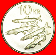 + CAPELIN FISHES (1996-2008): ICELAND ★ 10 CROWNS 1996 MINT LUSTER! LOW START ★ NO RESERVE! - IJsland