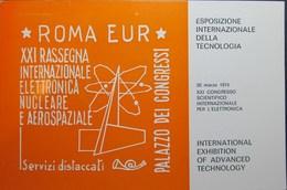 Esposizione Elettronica Nucleare Aerospaziale Roma 1974 Annullo Commemorativo Caravaggio 11346 - Ausstellungen