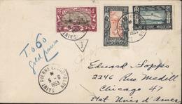 YT 137 138 142 CAD St Pierre Et Miquelon 5 6 1953 + T Et Manuscrit En Bleu 0.60 - Covers & Documents