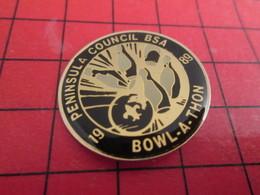713a Pins Pin's  / Rare, Belle Qualité / THEME SPORTS : BOWLING PENINSULA COUNCIL BSA 1989 BOWL-A-THON - Bowling
