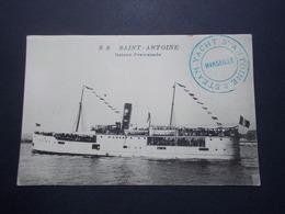 Carte Postale  - MARSEILLE (13) - SS Saint Antoine - Bâteau De Promenade  (2734) - Bateaux