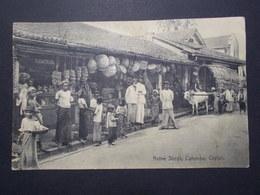 Carte Postale  - Native Shops, COLOMBO - Ceylon 1926 (2736) - Sri Lanka (Ceylon)