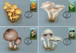 Kyrgyzstan - Express Post - 2019 - Poisonous Mushrooms - Maximum Cards Set - Kirghizstan