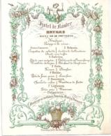 """BRUGES-BRUGGE """"HOTEL DE FLANDRE-MENU""""LITH.DAVELUY-110/142MM - Porcelaine"""