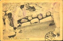 CPA. - Egypte > Louxor - Exploitation Of Tout-Ankh-Amon's Tomb - Daté 25 Mai 192? - BE - Louxor