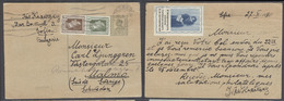 BULGARIA. 1930 (28 DeC). Sofia - Sweden, Malmo. 1d Green Stat Card 2 Adtls 4d Rate. Reverse Color Label. Fine Usage Dest - Bulgaria
