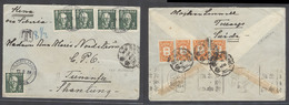 China - XX. 1939 (17 Feb). China - Russia - Sweden Airmails. Sweden, Harpling - China, Tsinanfu, Shantung. Via Siberia A - Non Classificati