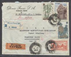 CAMBODIA. 1963 (18 July). Phnom Penh. RP - Germany. Frankfurt (21 July). Reg Air Multifkd Env Express Service. - Camboya