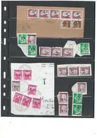 Algerie - LOT DE SURCHARGES EA - PROPOSE A  1 EURO -  Sur Fragments - 75 Piéces - Algeria (1924-1962)