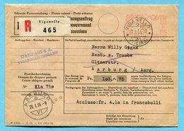 Einzugsauftrag Vignanello 1954 - Absender: Campari S.A. - Lettres & Documents