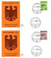 """BRD 2 Schmuck-FDC  """"EUROPA 1972"""", Mi. 716/17 ESSt 2.5.1972 Bonn 1 - [7] République Fédérale"""