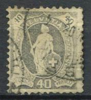 Svizzera 1907 Mi. 91 Usato 60% 40 C, Helvetia In Piedi - Svizzera