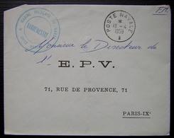 1959 Marine Française Au Maroc Unité Marine + Cachet Poste Navale - Marcophilie (Lettres)