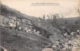 85-SAINT-LAURENT-SUR-SEVRE- CARRIERE DE GRANIT A BARBIN ( LES TAILLEURS DE PIERRE ) - France