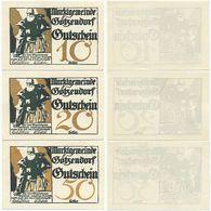 Götzendorf Bei Bruck, 3 Scheine Notgeld 1920, Ritter Gezo, Druck Gold, Österreich - Oesterreich