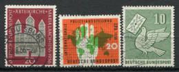 Germania Bund 1956 Usato 100% Mappa, Colomba, Chiesa - [7] Repubblica Federale