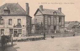CPA:PALUEL (76) BERGER TROUPEAU DE MOUTON DEVANT CAFÉ DU COMMERCE BIRKNER DUPORT PLACE DE L'ÉGLISE...ÉCRITE - Autres Communes