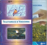 LOTE DE 2 CATALOGOS DE TARJETAS DE ANDORRA DEL AÑO 1991 AL 2001 - Phonecards