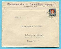 Illustrierter Brief Von Davos Nach Heidelberg 1927 - Absender: Platzsanatorium - Lettres & Documents
