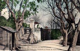 Environs De BASTIA  -  Entrée De L' Asile Des Vieillards Et Route De Saint-Florent  -  Jolie Carte Colorisée. - Bastia