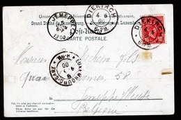 A6165) Luxemburg Karte Esch-le-Trou Diekirch 04.06.00 N. Jemeppe / Belgien - 1895 Adolphe Right-hand Side