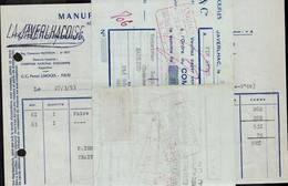 FACTURE + MANDAT GUY DELAGE ET CIE - MANUFACTURE DE PANTOUFLES - JAVERLHAC - AUCOURT - SAULIEU - 27 MARS 1953 - 1950 - ...