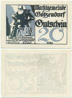 Götzendorf Bei Bruck, 1 Schein Notgeld 1920, Ritter Gezo, Druck Silber, Österreich - Oesterreich