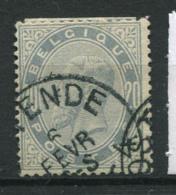 Belgio 1883 Mi. 36 Usato 100% 20 C, Re Leopold II - 1883 Leopoldo II