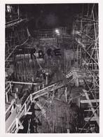 PHOTO ANCIENNE ORIGINALE,MINE,MINEUR,73,74,SAVOIE,1952,CONSTRUCTION CENTRALE ELECTRIQUE SOUTERRAINE,RANDENS,ISERE,ARC, - Places