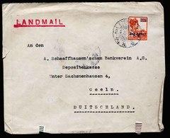 A6166) Netherlands Indies Brief Soerabaja 15.06.22 N. Coeln Seltene Vignette - Niederländisch-Indien