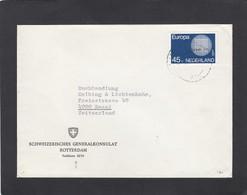 """SCHWEIZERISCHES GENERALKONSULAT ROTTERDAM.BRIEF MIT B. MARKE """"EUROPA 70"""" 45CTS. - 1949-1980 (Juliana)"""