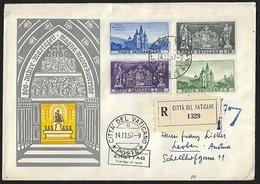 1957 - VATICANO - FDC + Y&T 247/250 [Mariazell] + CITTA DEL VATICANO - FDC