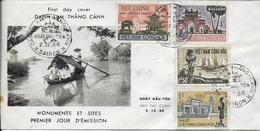 Env.1er Jour DANH AM THANG CANH-Saigon- Du 2-12-1964-4 Timbres Monuments Et Sites- Faire Offre - Viêt-Nam