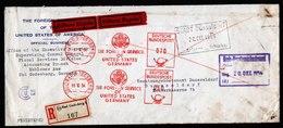 A6167) Bund R-Express-Brief Foreign Service US 19.10.54 N. Düsseldorf - [7] Federal Republic