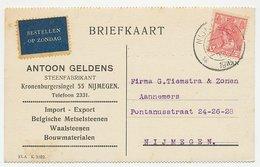 Firma Briefkaart Nijmegen 1919 - Steenfabrikant - Periode 1891-1948 (Wilhelmina)