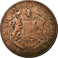 Monnaie, INDIA-BRITISH, BOMBAY PRESIDENCY, 1/2 Anna, 1834, TB, Cuivre, KM:252 - Inde