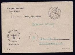 A6169) DR Austria Postsache PSA Wien 23.09.44 Entspr. Umschlag U. Stempel - Deutschland